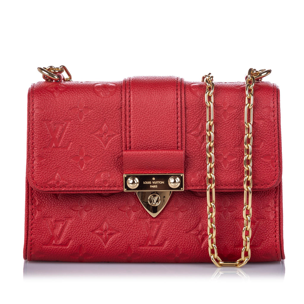 Louis Vuitton Red Monogram Empreinte Saint Sulpice BB