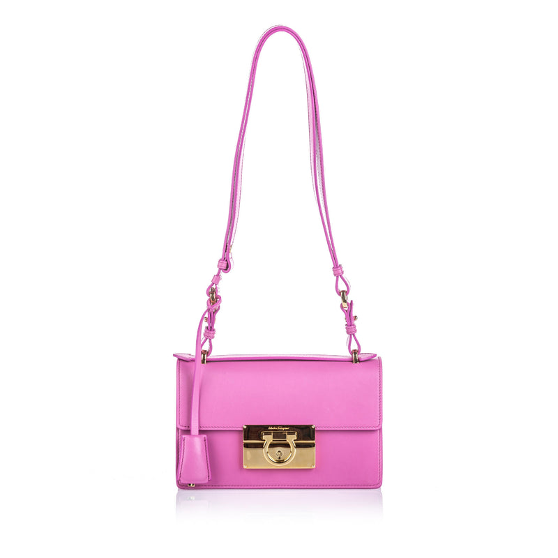 Salvatore Ferragamo Pink Leather Aileen Shoulder Bag