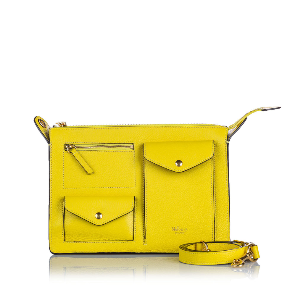 Mulberry Leather Yellow Cherwell Satchel