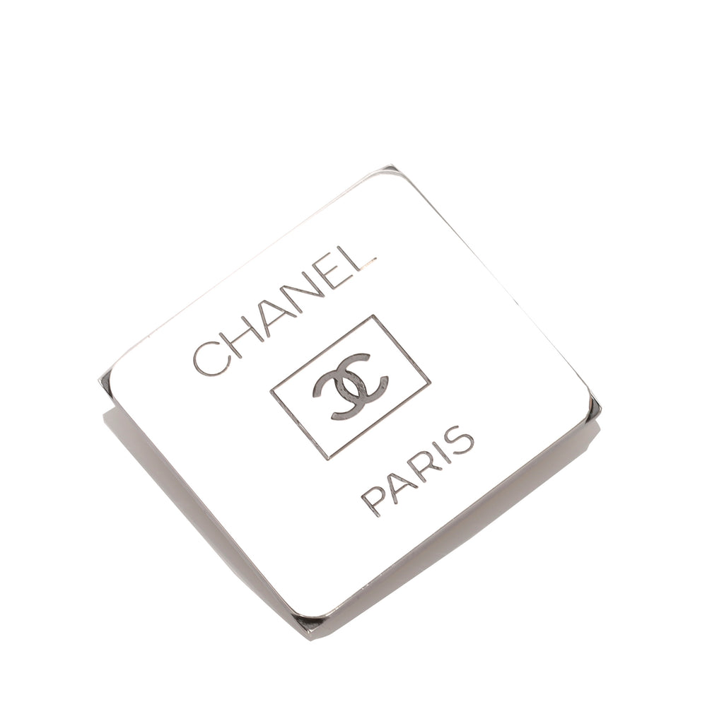 Chanel Silver CC Brooch