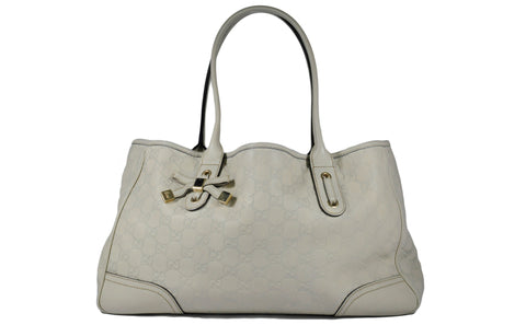2d050a8dc586 Ivory Guccissima Leather Princy Tote