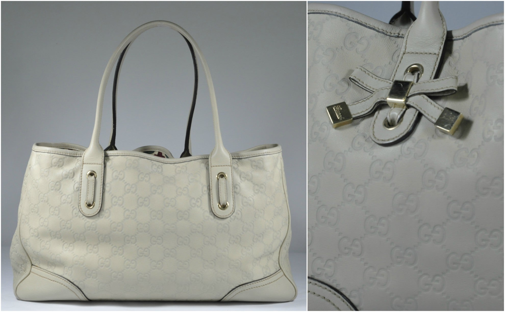 Ivory Guccissima Leather Princy Tote
