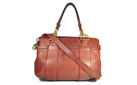 Burgundy Calfskin Leather Smilla Tote G945425 - Glampot