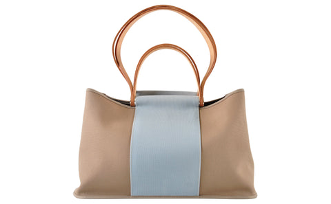 Cabag Tote 32 Grey / Blue Canvas - Glampot