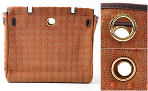 Interchangeable Brown Checkered Herbag Canvas Body