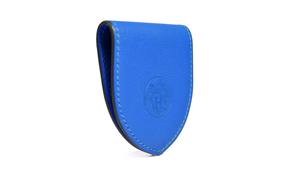 Hermès Blue Leather Money Clip Stamp P
