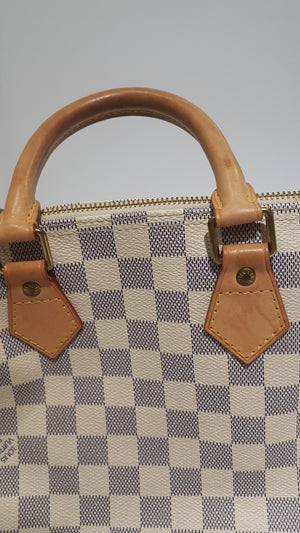 Louis Vuitton N41371 Speedy 25 Damiere Azur 25 SP1088