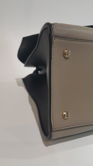 Large Obsedia in Black / Taupe Calfskin