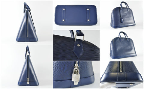 Louis Vuitton M40628 Alma GM in Indigo Epi Leather