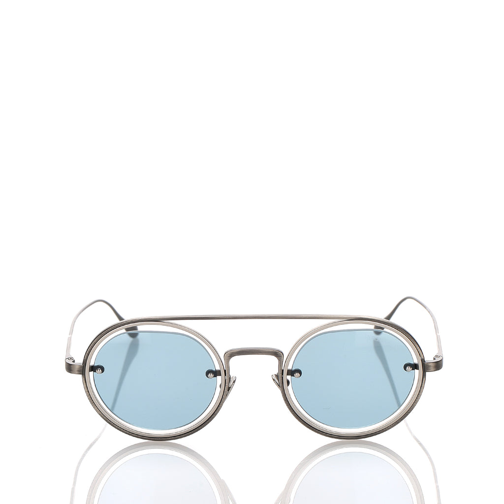 Armani Round Tinted Sunglasses Blue x Light Blue