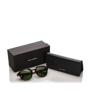 Dolce&Gabbana Square Tinted Sunglasses in Brown x Green