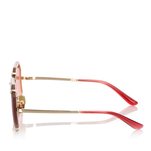 Dolce&Gabbana Octagonal Tinted Sunglasses in Red x Gold