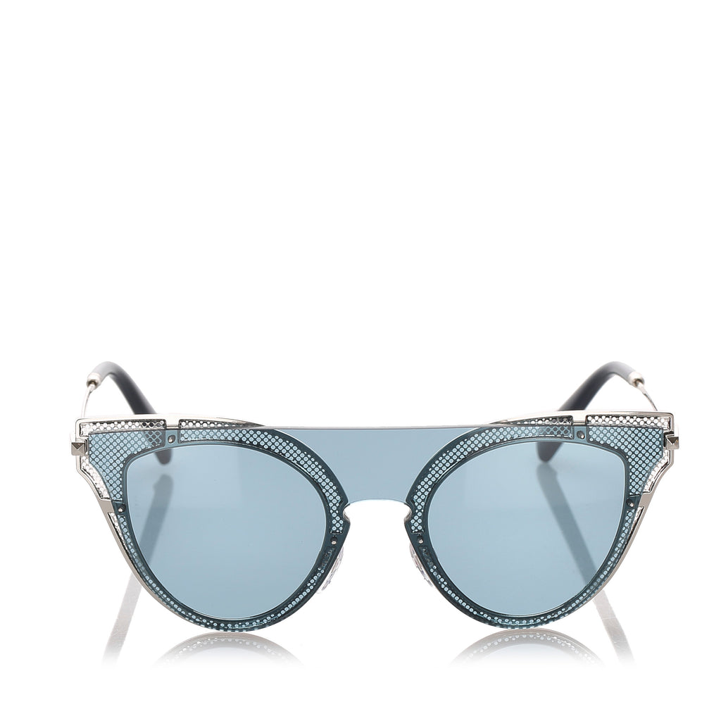 Valentino Cat Eye Tinted Sunglasses in Blue