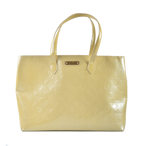 Louis Vuitton Beige Monogram Vernis Leather Wilshire MM Bag SN4100