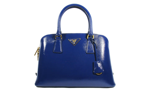 a522bf358d0c BL0837 Bauletto Saffiano Vernice Inchiostro Top Handle Bag - Glampot