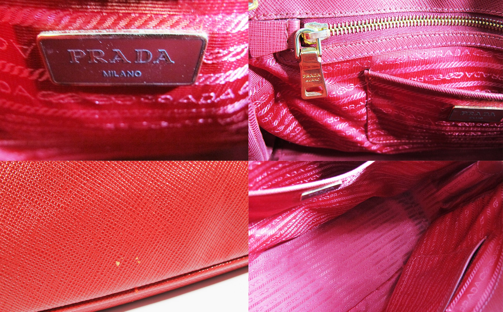 4542c46aa08e BN1802 Red Saffiano Lux Leather Double Zip Executive Tote Bag - Glampot