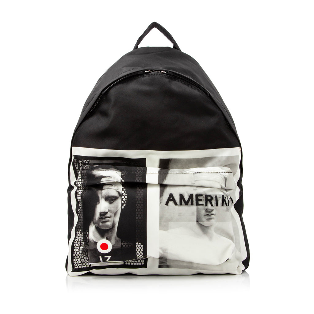 Givenchy Printed Nylon Backpack in Black x White
