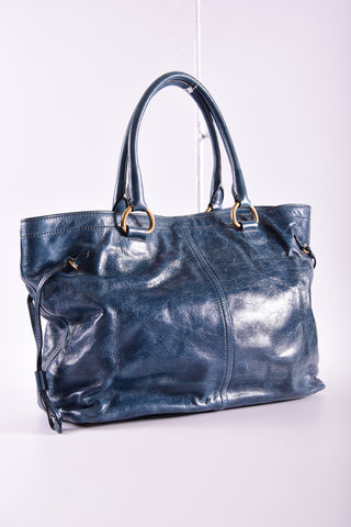 Prada BR4217 Vitello Shine in Denim