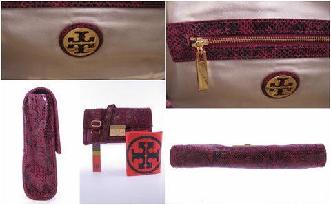 Tory Burch Luggage Lock Clutch in Berry Style