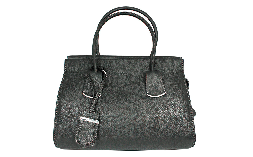 Tod's Black Tote Note Shopping 2 Mancini Zip Pic