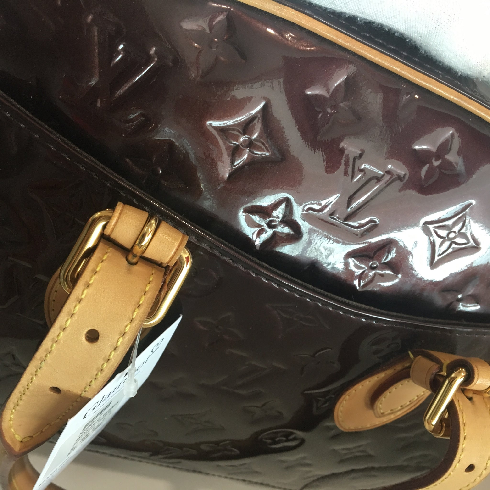Louis Vuitton Amarante Monogram Vernis Summit Drive Bag TH4978