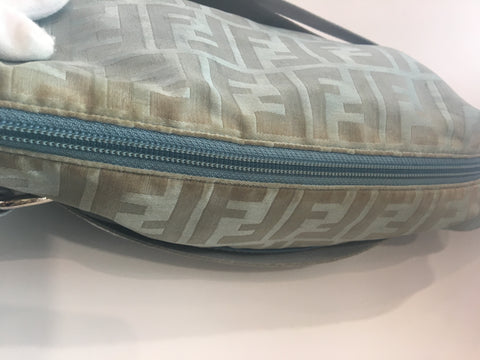 Fendi Monogram Canvas Light Blue Crossbody Bag