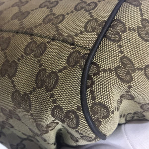 Gucci Guccissima Canvas Leather GG Charm Diamante Sukey Cross Body Bag 223974 525040