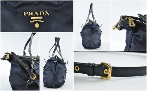 Prada BR4253 Tessuto Nylon Tote Shoulder Bag / Crossbody