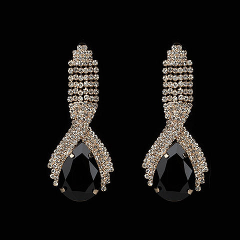 Fashion accessories sparkling crystal big drop earrings for women - pickNcarry
