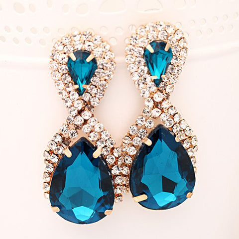 Earring studs women's handbags droplets crystal drop earrings women snowflake - pickNcarry