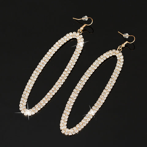 Fashion jewelry crystal rhinestone gold/silver plated wedding drop earrings for women - pickNcarry