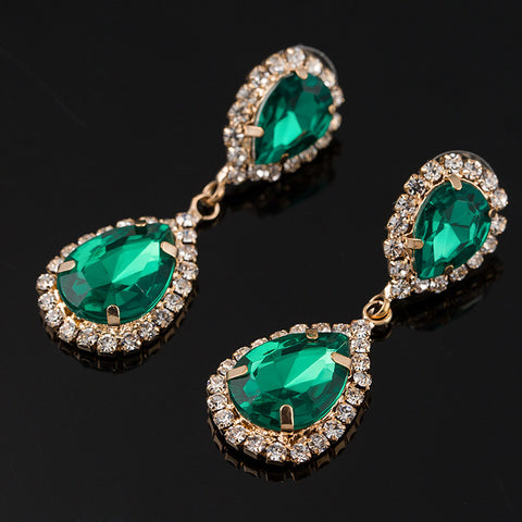HOT SELL Three color glittering crystal earrings for women - pickNcarry