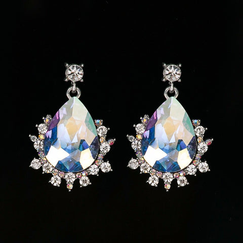 Fashion women Multi-color crystal romantic pendants earrings for women - pickNcarry