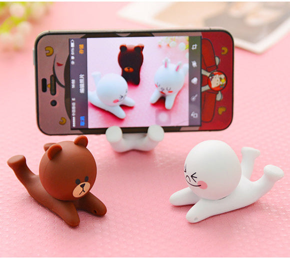 Universal Creative Cat and Bear shaped  mobile phone holder bracket