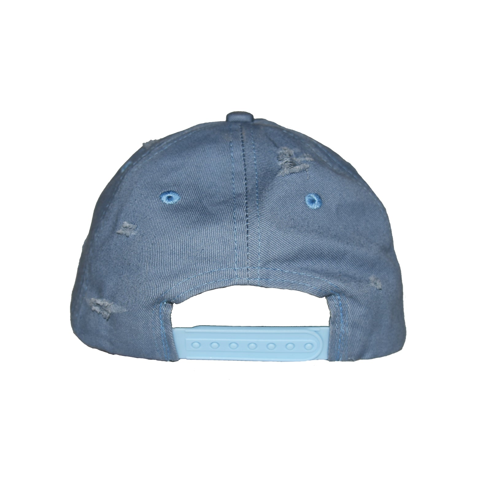 Destroyed baseball cap jeans