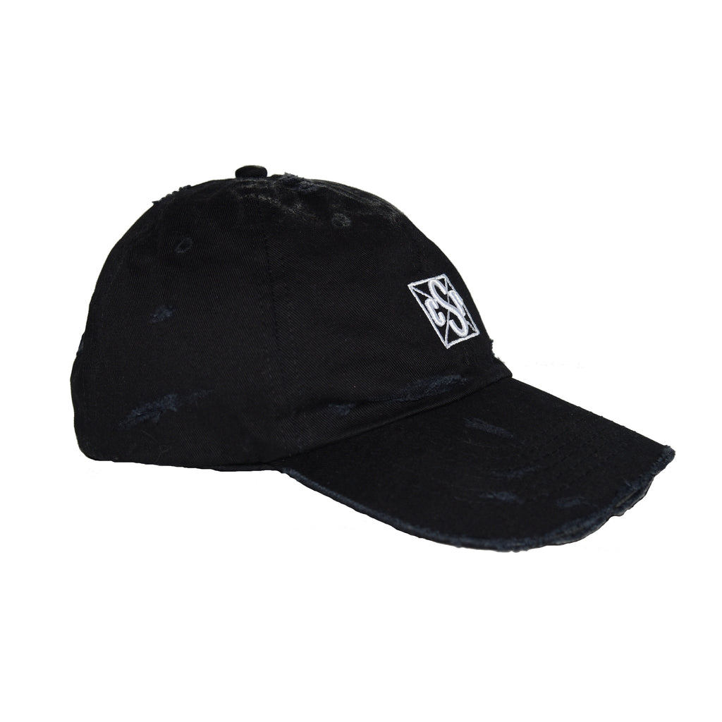 Destroyed Baseball Cap Black