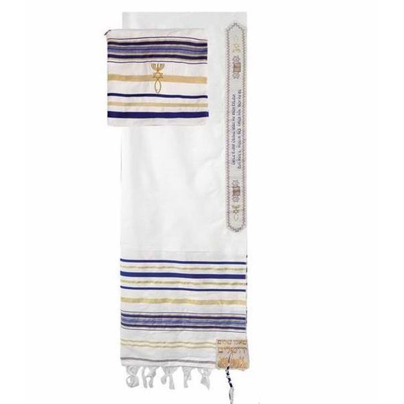 "Prayer Shawl-Blue Acrylic w/Bag (72"" x 24"")"