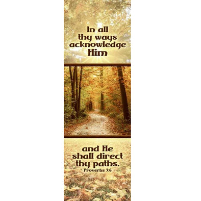 He Shall Direct Thy Paths - Indoor Banner