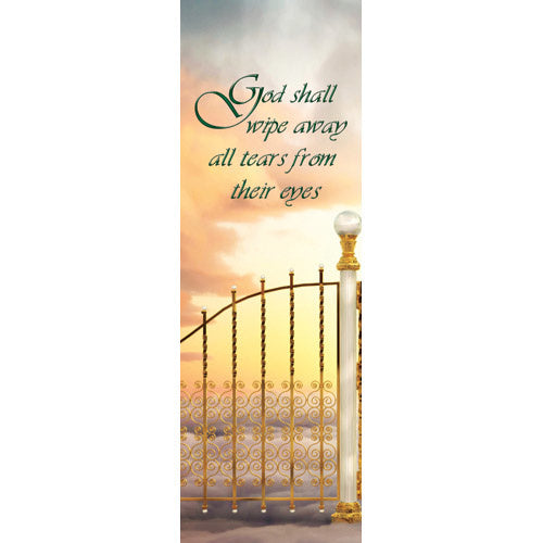 God shall wipe away all tears - Indoor Banner