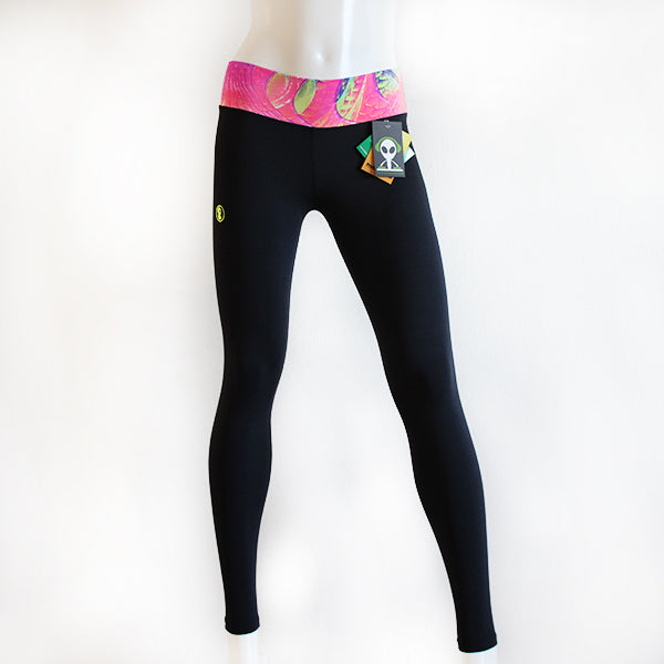 Black & Pink Alien Leggings