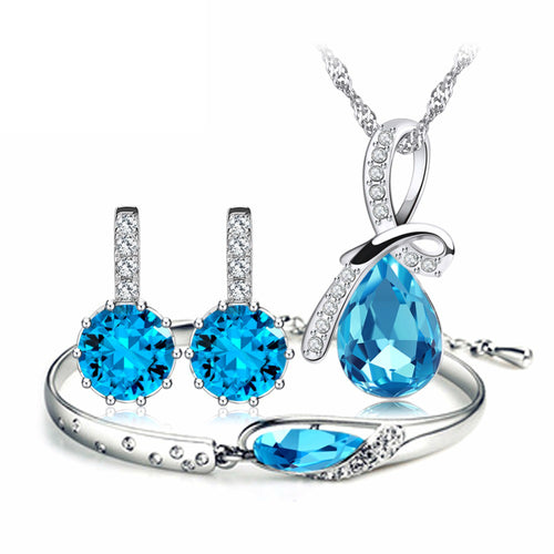 Oberfy USA Austria Crystal Jewelry Set