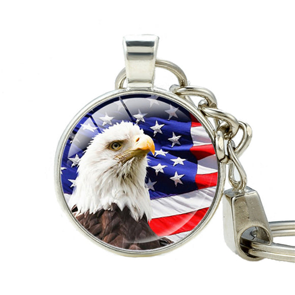 American Flag  Eagle Key Chain