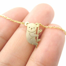 Koala and Branch Shaped Necklace