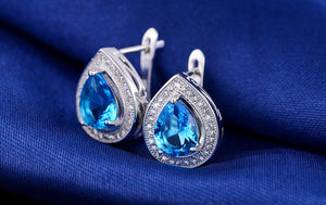 Oberfy USA Austrian Crystal Earrings