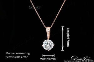 Double Fair Zirconia Chain Necklaces & Pendant