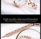 Oberfy SKMEI Luxury Rhinestone 30M Waterproof Women-watch