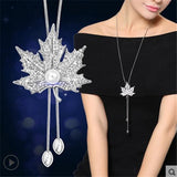 Zircon Maple Leaf Necklace