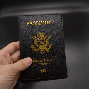 USA Leather Passport Cover