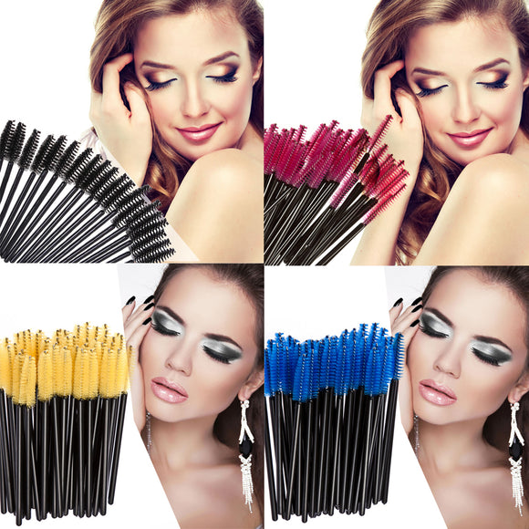 Oberfy Disposable Eyelash Eyebrow Brushes (200 pieces)