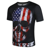 Death Punk Gothic US Flag T-shirt